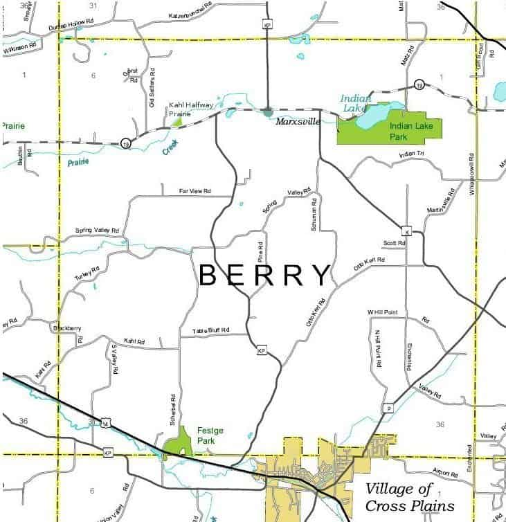 Town Of Berry Map